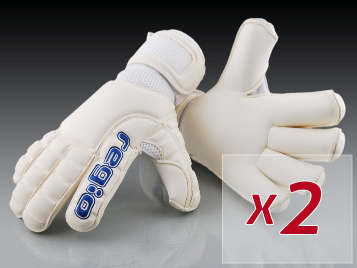 SET OF GIGA GRIP ROLL WHITE GLOVES - 2 PAIRS